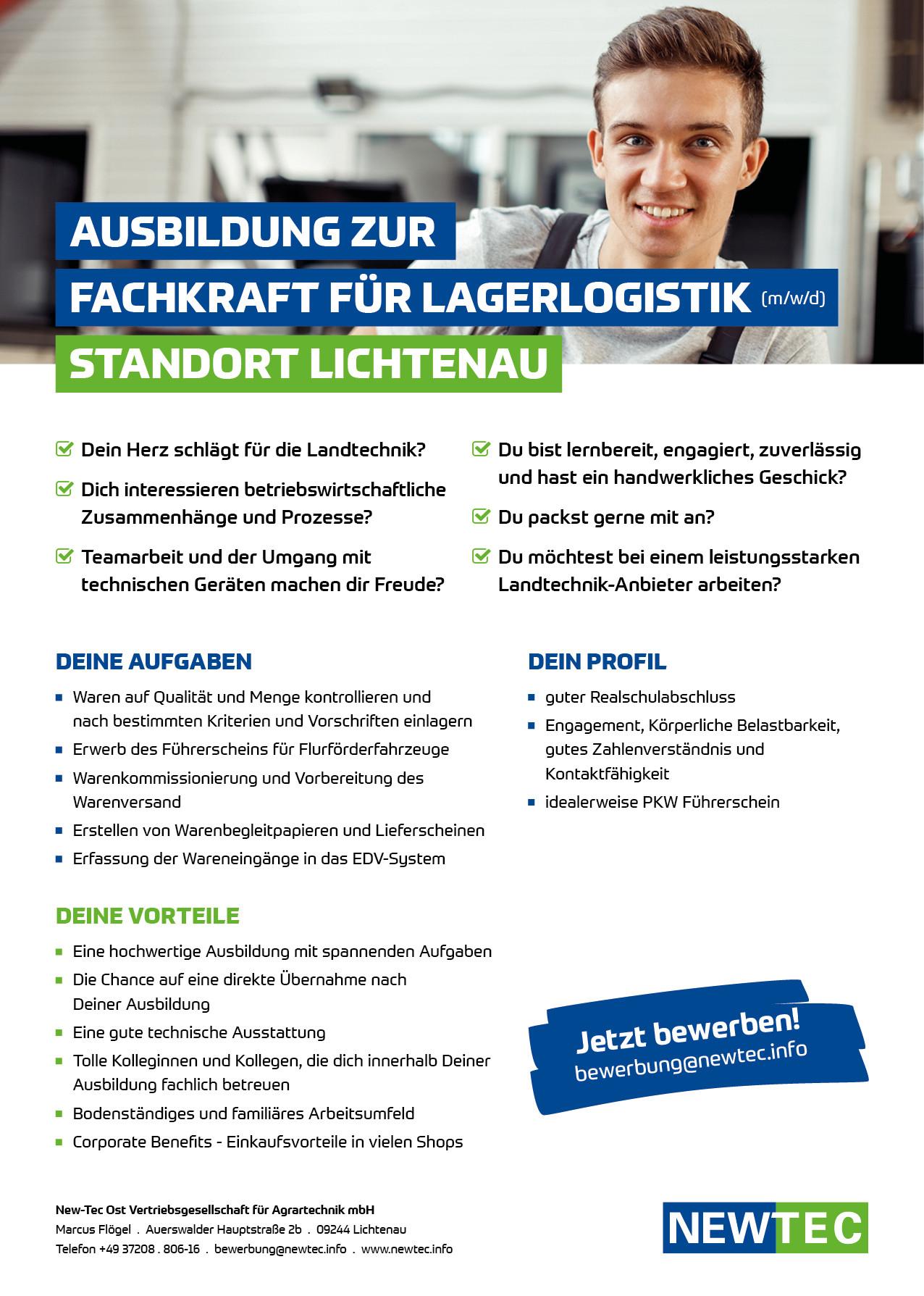 NEWTEC_Stellenanzeige_Ausbildung_Fachkraft_fuer_Lagerlogistik_Lichtenau